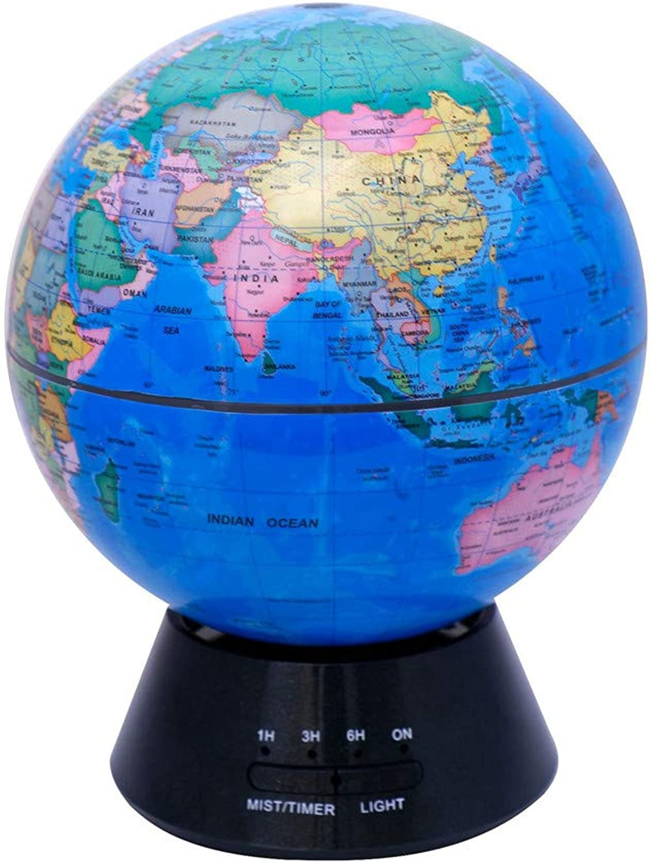 YQIUXINGO Glowing World Globe, Builtin LED Lighting Night Scene Silent Bedroom Ultrasonic Air Purifier Education World Globe Gift 3in1 Earth Globe And Constellation redating globe
