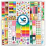 Cute & Colorful Planner Stickers (1054 pcs Value Pack) -...