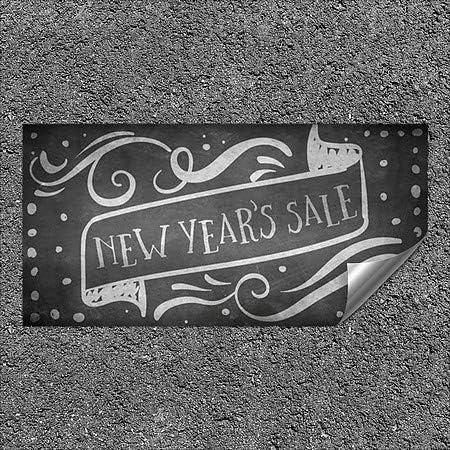 96x48 Chalk Banner Heavy-Duty Industrial Self-Adhesive Aluminum Wall Decal CGSignLab New Years Sale