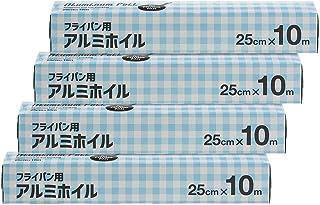 [Amazon限定ブランド]Kuras フライパン用アルミホイル 25cm×10m ×4本パック
