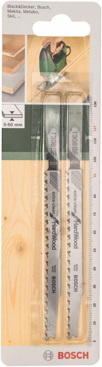 Bosch U18A Lot de 2 lames de scie sauteuse pour m/étal HSS longueur 70 mm tige U
