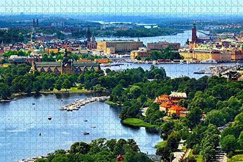 Pussel för vuxna Sverige Stockholm Old Town Puzzle 1000-delars resesouvenir
