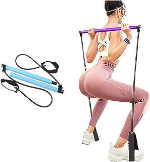 Portable Pilates Stick Yoga Exercise Pilates Bar, Yoga Pilates Bar Reformer Kit, Pilates Bar Kit with Resistance Band,Home...