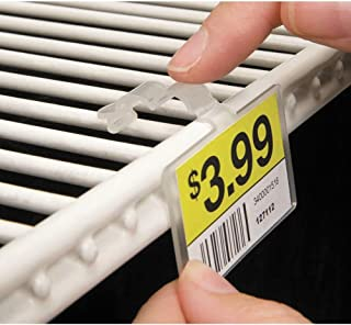 Fold-N-Hold Clear Plastic Double-Wire Shelf Label Holder With Snap Lock Closure - 2 1/4