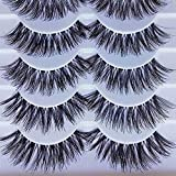 Jytrading False Eyelash, Pairs of 5, Makeup Handmade Natural Long Volume False Eyelashes Lashes Extensions