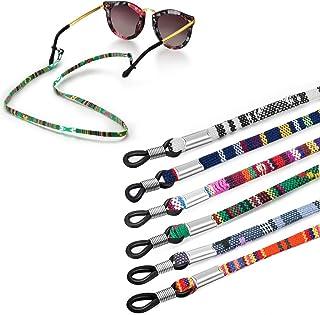 Jurxy 6PCS Chaîne de lunettes Porte-sangle en coton grossier Cordon en verre de sport Chaîne collier Chaîne de retenue des...