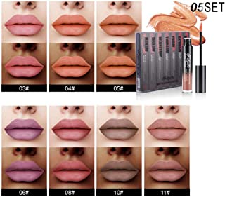 New 7pc Lip Lingerie Matte Liquid Lipstick Waterproof Gloss Makeup Set Vampire Style Long Lasting Hydrating Moisturizer Non-Stick Cup Cosmetic Colour Glamorous Toiletries Gift(#6)