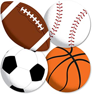 Go, Fight, Win - Sports - Basketball, Baseball, Football & Soccer Ball Decorations DIY Baby Shower or Birthday Party Essentials - Set of 20