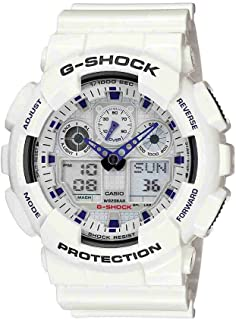 Casio G Shock Men's Quartz Sport Watch with Resin Strap, White, 29.4 (Model: GA-100A-7ACR)