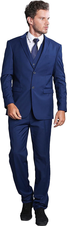 Suits for Men Slim Fit 3 Piece Suits Set with Jacket, Vest, Pants