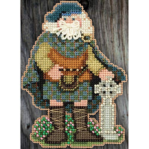 Mill Hiill Celtic Santas Counted Cross Stitch Kit 3inX4.75in-Scotland Santa (14 Count)