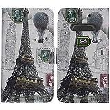 TienJueShi Eiffel Tower Fashion Style Book Stand Flip PU