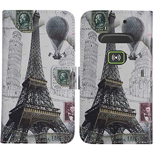 TienJueShi Eiffelturm Flip Stand Brief Leder Tasche Schütz Hülle Handy Hülle Für Doro Secure 580IUP Abdeckung Fall Wallet Cover Etüi