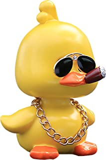 Cute Yellow Duck Toy Car Ornaments Cool Duck Car Dashboard Decorations Shaking Head Doll