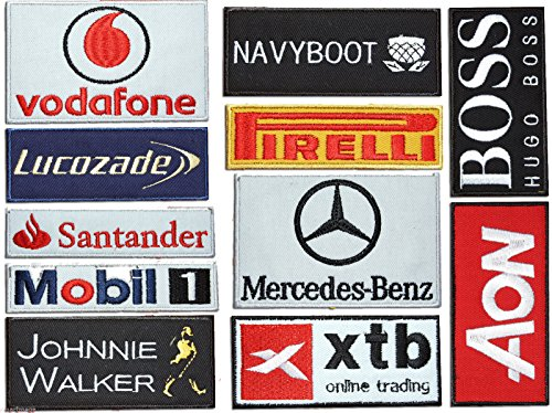 OneKool McLaren F1,11 Bestickt Overall Rennsport Anzug Sport Sponsor Aufnäher by