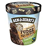 Ben & Jerry's - Non-Dairy Frozen Dessert, Non-GMO - Fairtrade - 100% Certified Vegan - Made with Almond Milk - Responsibly Sourced Packaging, Chocolate Fudge Brownie, Pint (8 Count)