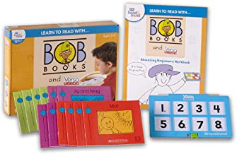 hand2mind Learn to Read with Bob Books and VersaTiles - Advancing Beginner Set (Ages 3-6) | Advancing Beginner Game, 12 BOB Books, 20 Activities & 1 Answer Case