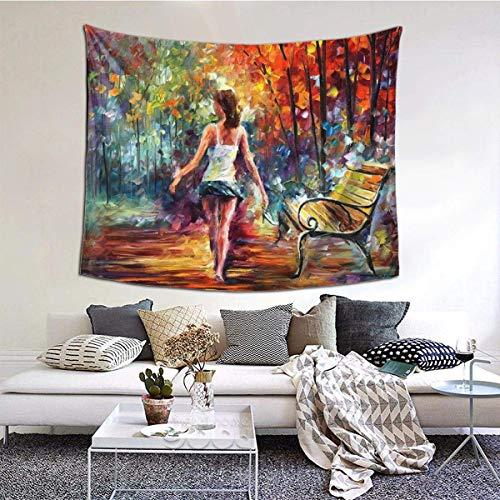 Tapiz de pared ancha con diseño de calavera fresca para colgar en la pared, para dormitorio, sala de estar, 152 x 152 cm, pintura de árbol para mujer