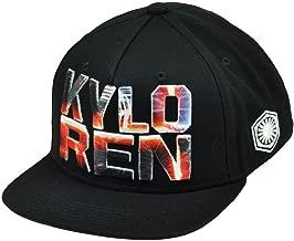 Star Wars Kylo Ren Dark Side Snapback Flat Bill Hat Cap Villain Movie Character