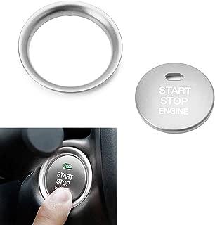 iJDMTOY 2pc Set Silver Aluminum Keyless Engine Push Start Button & Surrounding Decoration Ring For Mazda 3 6 CX-3 CX-5 CX-9 MX-5 w/Push Start Engine Feature
