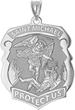 st michael police badge pendant