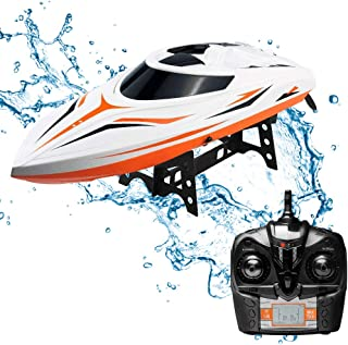 SGOTA RC Boat 2.4GHz Toy Boats High Speed 18MPH Remote Control Boat Fast RC Boat Racing for Lakes/Pools/Ponds (Only Works in Water),Adults or Kids,Boys or Girls(H105-1)