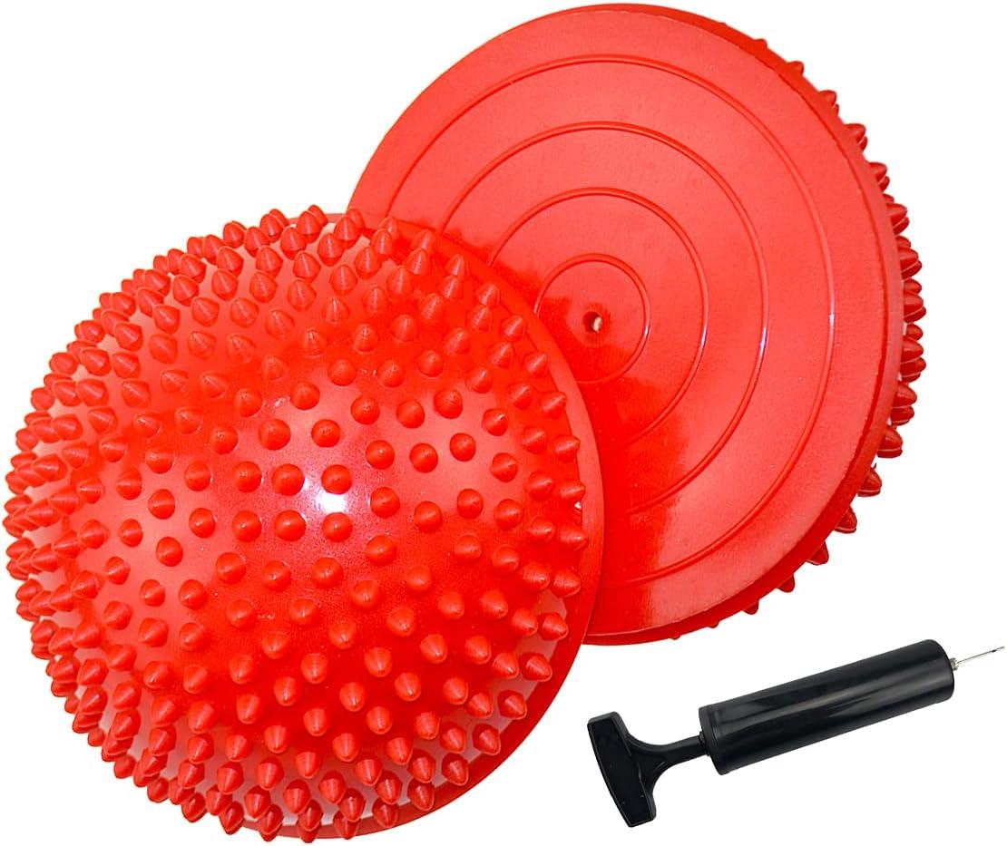 2PCS Hedgehog Balance Limited time cheap sale Pods Pimples Japan's largest assortment Fit Half Ball Pilates Spiky