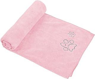 Winthome ペット用タオル 犬 猫 ボディータオル マイクロファイバー 吸水 速乾 犬体拭き用タオル 大判 (ピンク)