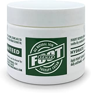 FOOT SENSE All Natural Skin Therapy Cream - Repairs and Treats Cracked, Dry, Itchy Skin, Heels and Calluses - Anti-Fungal - Athletes Foot, Jock Itch, Ringworm - Use on Feet, Hands, Elbows