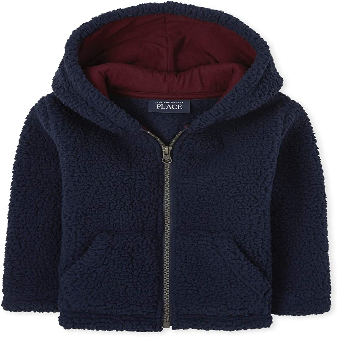 The Children's Place Boys' Toddler Sherpa Cozy Zip Up Hoodie