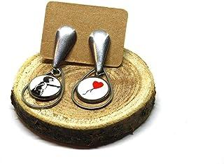 Orecchini Bansky - Orecchini a goccia - Orecchini pendenti - Orecchini lunghi - Orecchini in acciaio