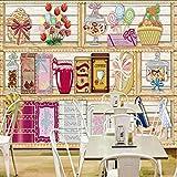 Wuyyii カスタム写真の壁紙カスタム3Dステレオキャビネットスナックジャムの背景壁壁画レストラン店モール子供部屋壁紙B-120X100Cm