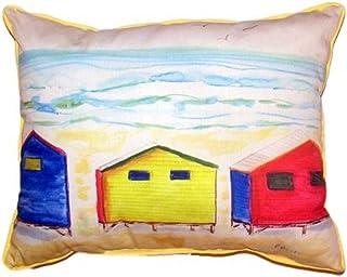 """Betsy Drake SN495 Beach Bungalows Pillow, 11"""" x14"""""""