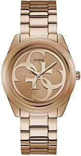 Guess Womens Analogue Watch G-Twist with Stainless Steel Strap, Rose Gold, bracelet