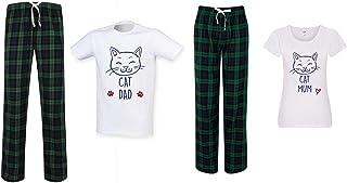 60 Second Makeover Limited Cat Mum Cat Dad Couples Matching Pyjama Tartan Set Couples Pet Clothes