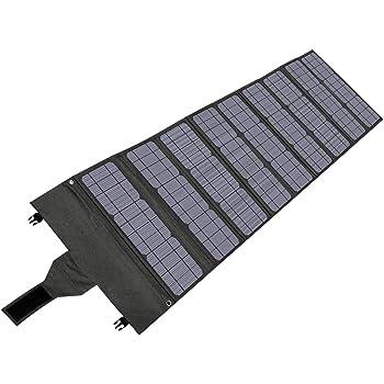Hypowell 120Wソーラーパネル23%変換効率 単結晶 ソーラーチャージャー 折畳み式 太陽光発電 ポータブル電源充電器 DC/USB出力 type-C 急速充電QC3.0搭載 10種DCプラグ スマホ.ポータブル電源各種対応 防水 収納便利 超薄型 コンパクト24ヶ月年保証