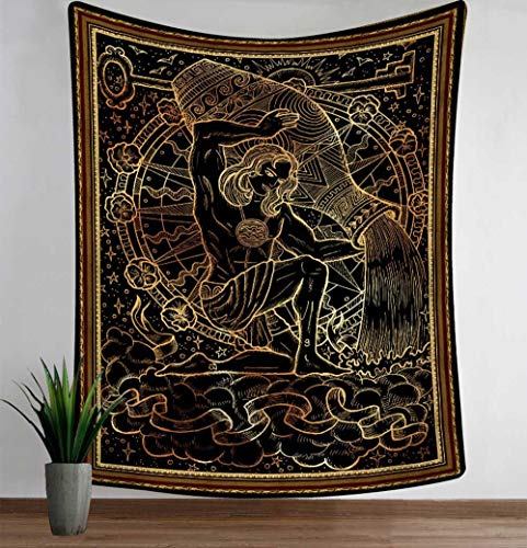 WERT Hexerei Tarot Tapisserie Mandala Wandtuch Strandtuch Decke Divination Tapisserie Home Decoration Tapisserie A3 130x150cm