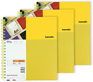 1 Subject 8.5x11 College Ruled Spiral Bound Notebook SUNSHINE Yellow 3-PACK