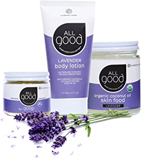 All Good Lavender Lover's Set - Lotion, Skin Food, Healing Balm