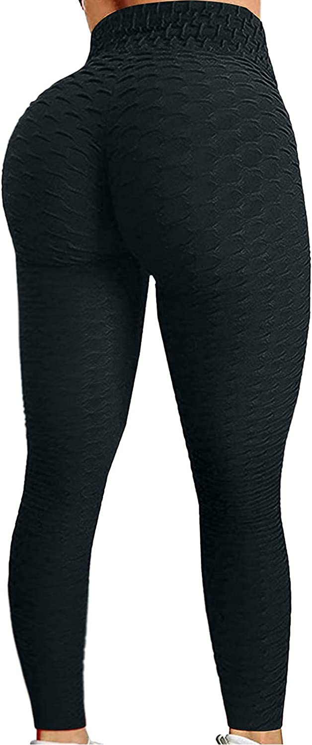 Maryia Yoga Pants for Women High Waist Capri Leggings Tummy Control Workout Running Fitness Stretch Texture Booty Tights