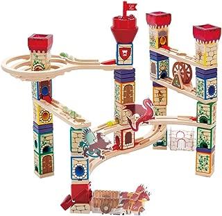Hape Medieval Quest | 185 Piece Quadrilla Marble Run Wooden Track Play Set