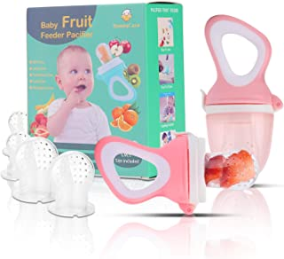 Baby Fruit Feeder Pacifier(2 Pack) - Baby Food Feeder - Infant Fruit Teething Toy for Toddlers Pacifier, Feeder, Teether w...
