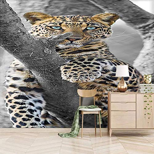 Msrahves papel pintado pared dormitorio Bosques manchas animales tigres Fotomurales 3D XXL Papel pintado tejido no tejido Decoración de Pared decorativos Murales moderna Diseno Fotográfico