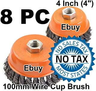 "2pcs alots 4/"" Twist Wire Cup Brush 5//8/""-11NC Thread Fits Most Angle grinders"