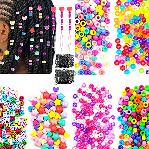 1000Pcs Hair Beads for Braids for G…