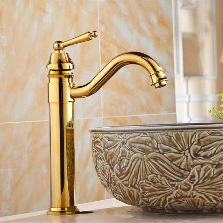 Faucet Modern Luxury Full Copper 360° redating Faucetsink Faucet Antique gold Faucet Waterfall Faucet Bathroom Faucet