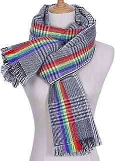 Winter Long Soft Warm Tartan Check Scarves Wraps for women Spinning Tassel Shawl Long Stole Ladies Cozy Oversize Shawl