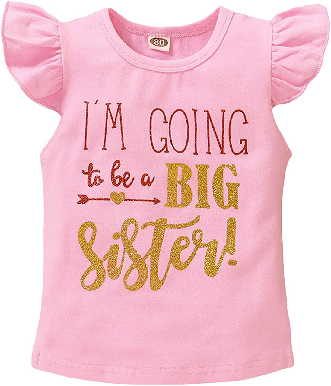 Toddler Baby Girls Romper I'm Going to Be Big Sister T-Shirt Infant Shirt Top