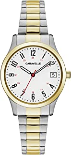 Caravelle Women's Quartz Watch with Stainless-Steel Strap, Two Tone, 15 (Model: 45M111)