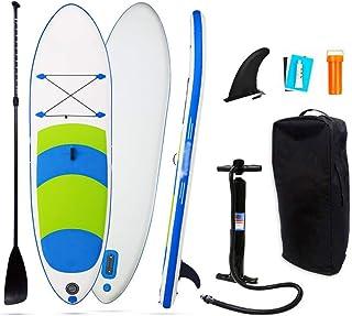 Fklee El Sup Inflable Antideslizante se Levanta el Tablero de Paleta con la Paleta Ajustable, el Bolso y la Bomba de Transporte Tabla de Surf (Color : Azul, tamaño : 297x76x15cm)